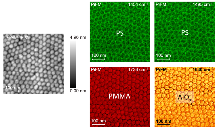 Fig 4 - Study of Organic-Inorganic Composite via PiFM - App Notes on PiFM