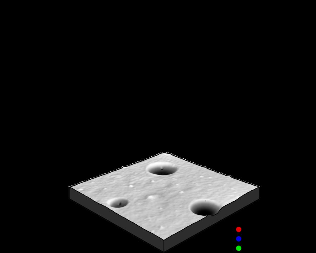 AFM topography 3d render