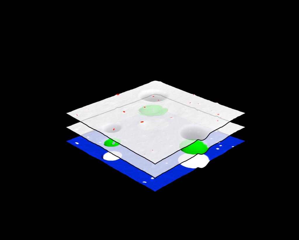 3 individual PiFM nanoscale chemical maps